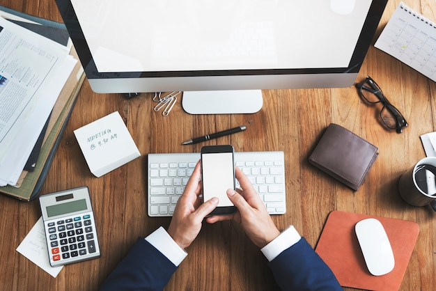 Концепция рабочего стола офиса бизнес-объектов