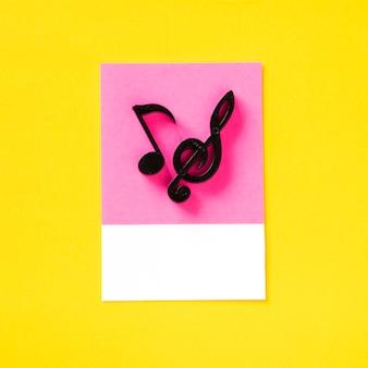 色付きの音符のオーディオシンボル