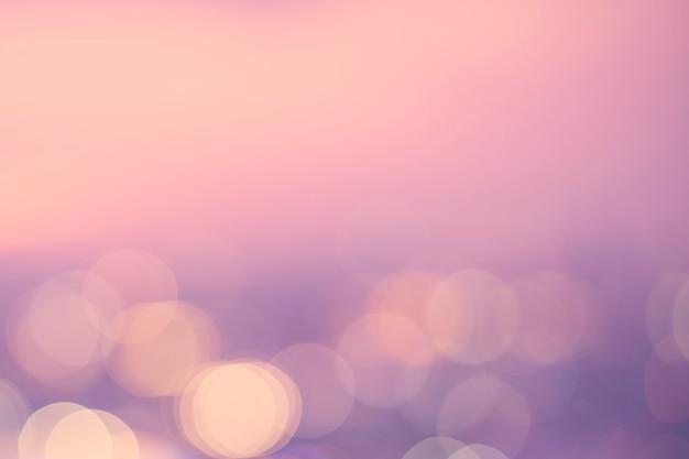 Пастельные розовые огни боке
