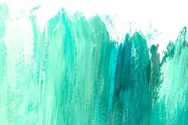 キャンバス上の緑色の塗料