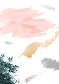紙の背景に水彩画