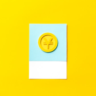 Бумажное искусство монеты японской иены