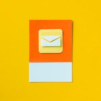 電子メールの受信トレイ封筒のアイコンの図