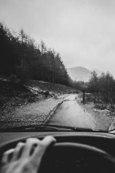 田舎で運転する