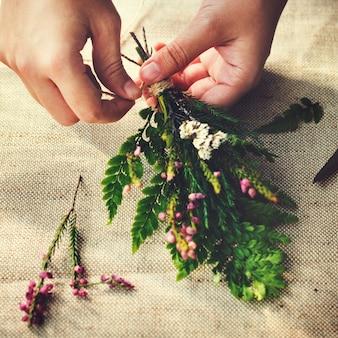 花の手工芸ワークショップ