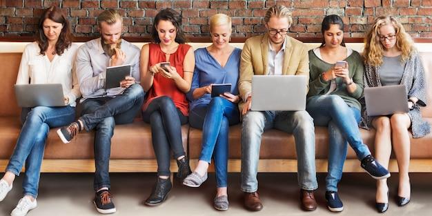 多様性人接続デジタル機器閲覧コンセプト
