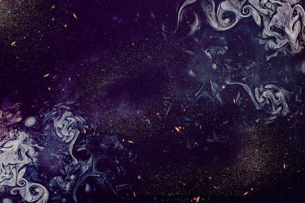 紫色の油絵の具の質感