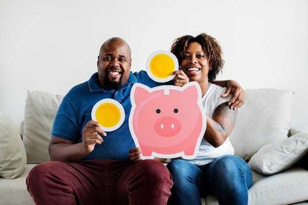 貯金コンセプトの人々
