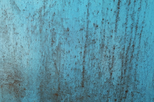 Фон текстурированный из старого ржавого металла синего гранж