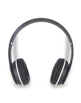 白で隔離されるワイヤレスヘッドフォン
