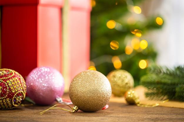 休日のクリスマステーマの背景。