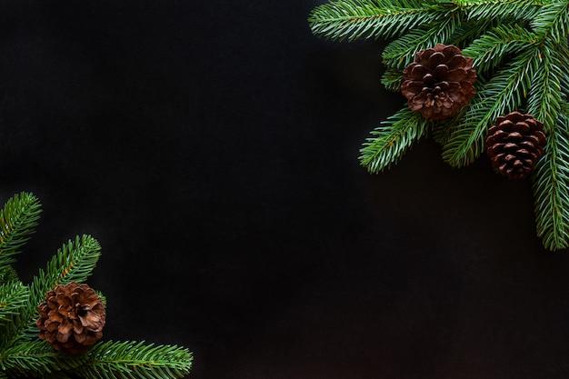 Рождественская рамка фон украшен дом темой.