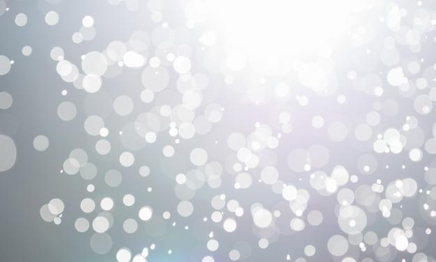 水の泡は光の照明を抽象化する。