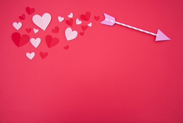キューピッドの矢 - 聖バレンタインの概念