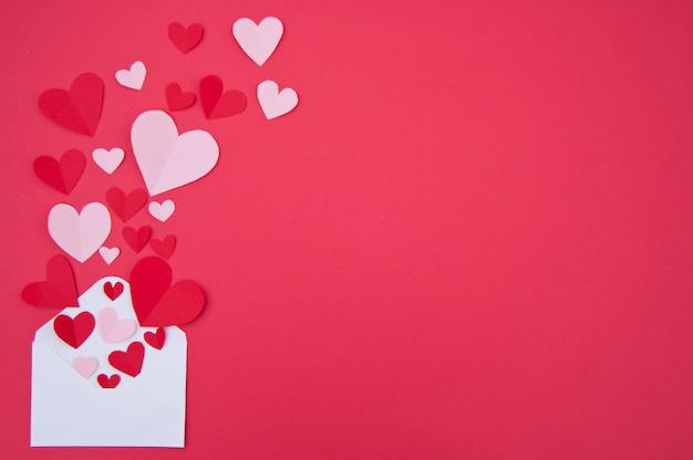 Любовное письмо - концепция святого валентина