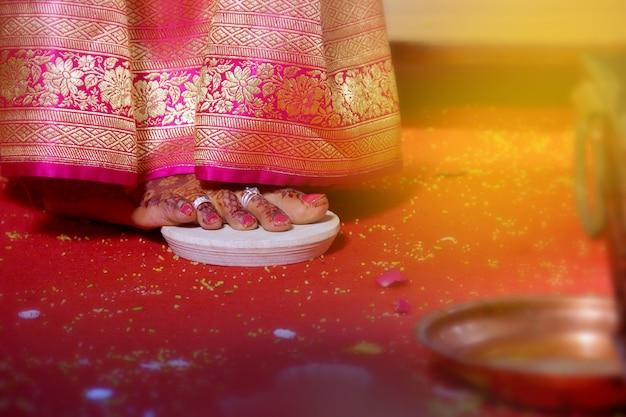 花嫁の足、インドの結婚式