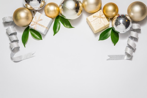 クリスマスフェスティバル、結婚式や誕生日の背景とコピースペース。
