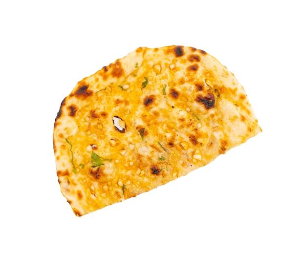 インドのヘルシー料理ガーリックブレッドまたはガーリックナン