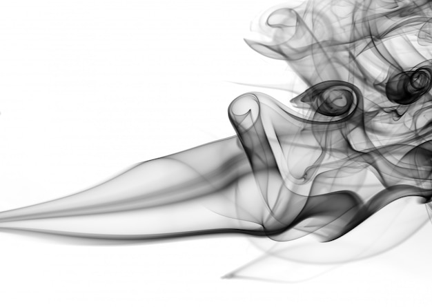 白地に黒の煙、白地に毒性の動きの要約