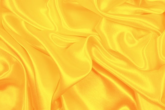 オレンジシルクの質感の豪華なサテン