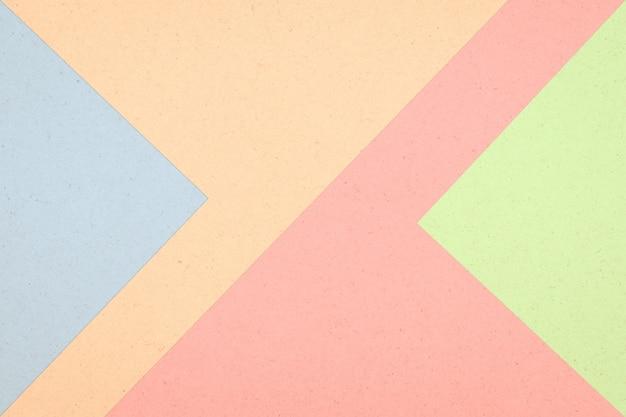 カラフルな紙ボックスの抽象的な背景、パステルカラー