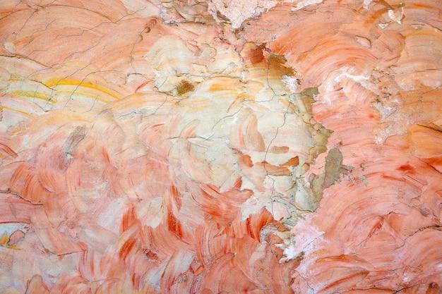 カラフルな古いコンクリートの壁テクスチャの抽象的な背景の亀裂