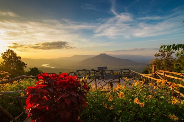 タイ、ロイ県の富士山。この山は日本の富士山に似ています