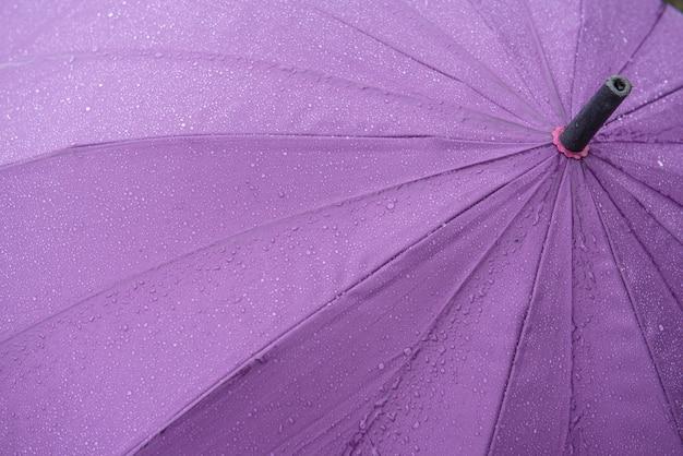 Зонт с каплями дождя для фона.