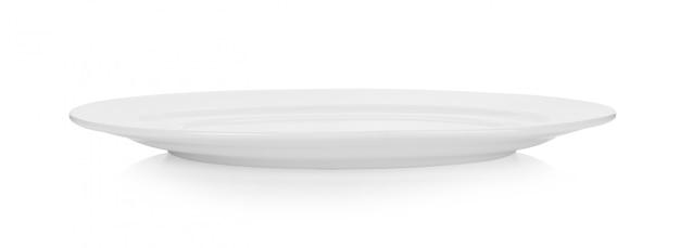白い背景で隔離のセラミックプレート