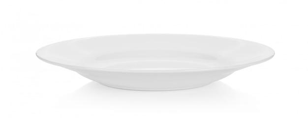 白の空の皿