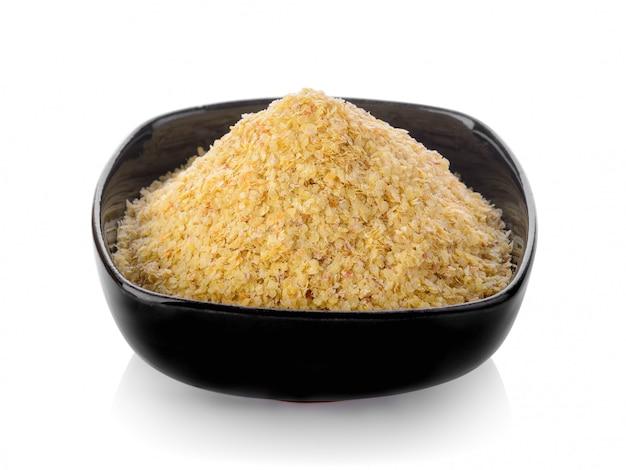 Зародыш пшеницы в миску на пустое пространство