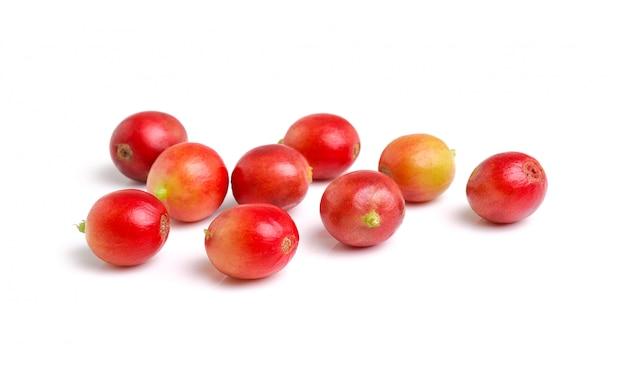 Свежие изолированные кофейные зерна