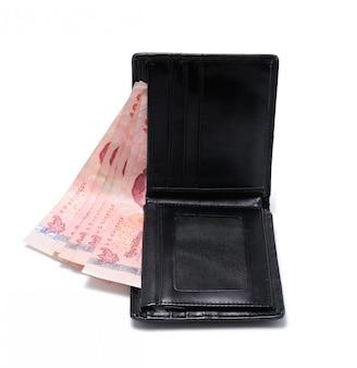 Бумажник крупным планом