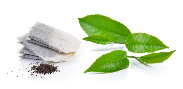 Пакетик чая и чай