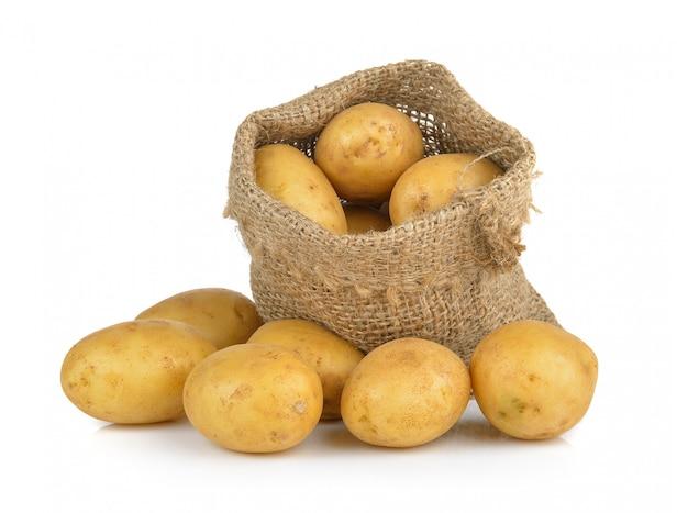 分離された袋のジャガイモ