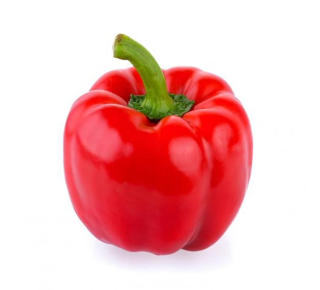 Красный перец на белом