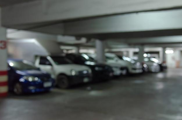 駐車場をぼかし