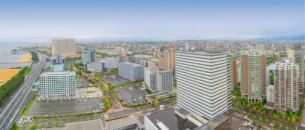 福岡パノラマ福岡タワーの街並み。