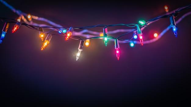 クリスマスライトの背景