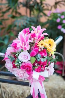 Фон красивый цветок свадебный букет украсить