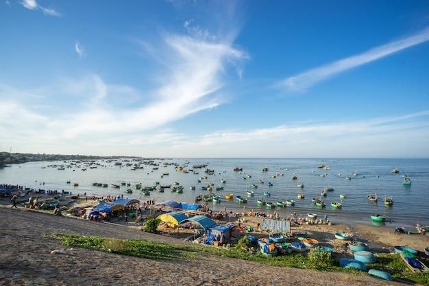 Рыбацкие лодки недалеко от города муйне.