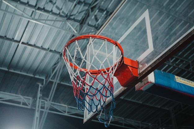 スポーツ活動バスケットリングの背景
