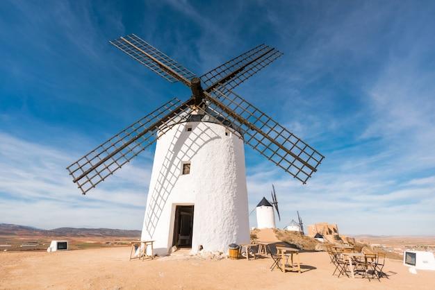 スペイン、トレド、コンスエグラのドンキホーテ風車。