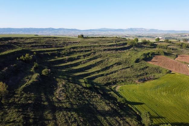 Сельскохозяйственная терраса в провинции бургос, кастилия и леон, испания