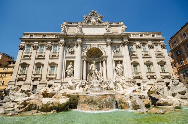 世界的に有名なトレビの泉のランドマーク。ローマ、イタリア。