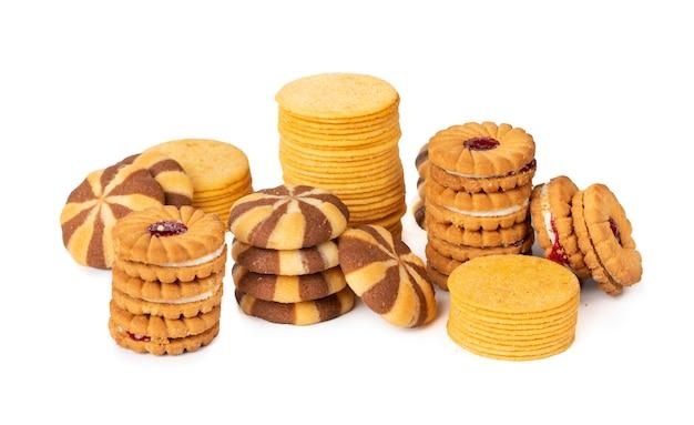 クッキーまたはビスケットのグループ