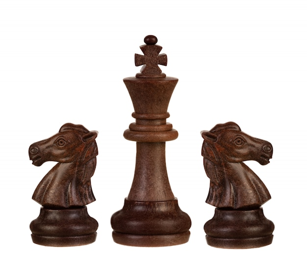 茶色のチェスのピース