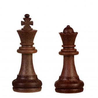 木製の茶色のチェスの小片