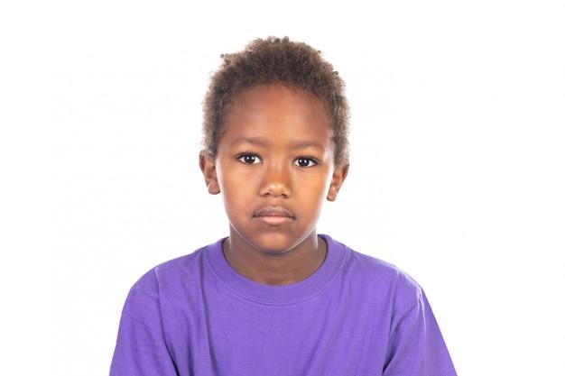 美しいアフリカ系アメリカ人の少年