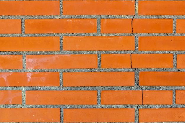 背景の赤レンガの壁のテクスチャ